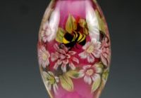 KFields - Garden Path - Encased Floral & Bee Murrini Bead